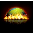 Burning Earth vector image vector image