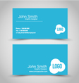 Business card design set template for company vector image