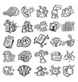 business icon hand drawn icon design vector image