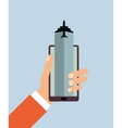 cellphone and airplane icon vector image vector image