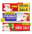 christmas sale banner merry christmas vector image vector image
