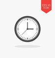 Clock icon Flat design gray color symbol Modern UI vector image
