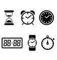 clock icons set clock symbol vector image vector image