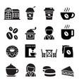 coffee shop icon vector image vector image