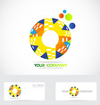 Colored circle logo vector image vector image