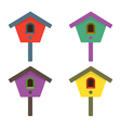 Colorful Birdhouses vector image vector image