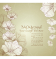 congratulatory floral background vector image vector image