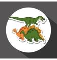 dinosaur icon design prehistoric animal vector image vector image