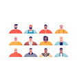 diverse man people or father cartoon set isolated vector image vector image