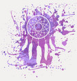 dream catcher with watercolor splash vector image