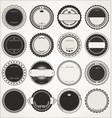empty retro vintage badge collection 2 vector image vector image