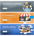 Flat design concept for technical support vector image vector image