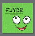 Flyers with Funny faces cartoon-style on