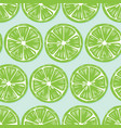 fruit seamless pattern lime slices with shadow vector image vector image