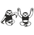 funny sloth vector image vector image