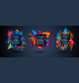 futuristic frame art design with abstract shapes