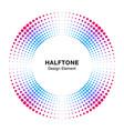 halftone colorful circle frame dots logo emblem vector image vector image