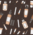 hand drawn color set of foundation vector image