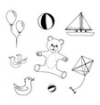 hand drawn set of kids toys on vector image vector image