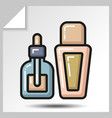 icons of beauty cosmetics 19 vector image vector image