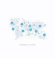 internet things iot and network connection vector image vector image