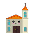 isolated big church vector image vector image