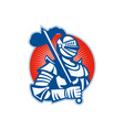 Knight Full Armor With Sword Retro vector image vector image
