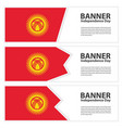 kyrgyzstan flag banners collection independence vector image vector image