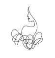 line drawing a beautiful woman 9 vector image vector image