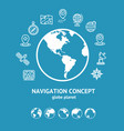 location and navigation concept and globe vector image vector image