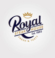 logo royal steak meat butchery elements crown vector image vector image