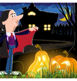 Old vampire near the house vector image vector image