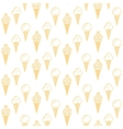 Orange ice cream seamless pattern Summer vector image vector image