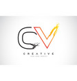 ov creative modern logo design with orange and vector image vector image