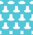 polar bear pattern seamless wild predator vector image vector image