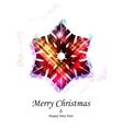 purple snowflake vector image vector image