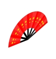 Red open hand fan icon isometric 3d style vector image vector image