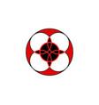 sacred flower celtic like tribal style linear vector image vector image