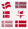 Set with Flags of Denmark vector image vector image