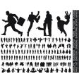 silhouettes huge collection vector image vector image
