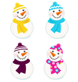 snowmen collection vector image vector image