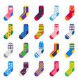 sock icon sport long socks kids feet clothes vector image vector image