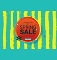 spring sale main label vector image