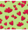 Strawberry Seamless Pattern Green vector image