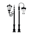 Street lights and outdoor lamps vector image vector image