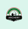 strong archery badge vintage logo