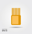 stylized image of package of spaghetti flat icon vector image