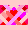 valentines day geometric background vector image