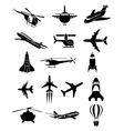 Air travel icons set vector image