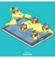 Remote managing isometric flat concept vector image